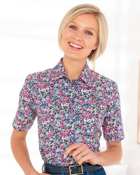 Margarite Floral Pure Cotton Blouse