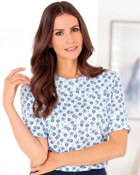 Sandie Floral Pure Cotton Leisure Top