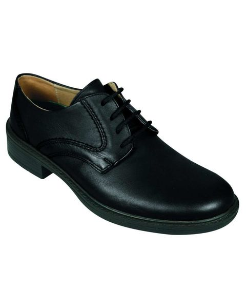 DB Wider Fit Black Lace up shoe