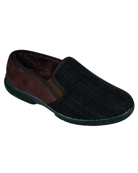 DB Wider Fit Brown House Shoes